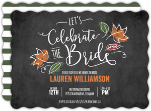 Chalk Celebrate The Bride Bridal Shower Invitation