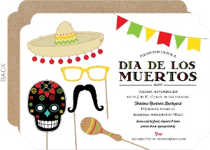 Dia De Los Muertos Party Props Invitation