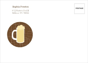 Brown beers cheers 40th birthday invitation envelo 666 1 big