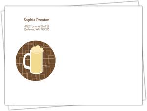 Brown beers cheers 40th birthday invitation envelope 666 1 big