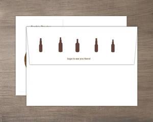 Brown beers cheers 40th birthday invitation envelope 666 2 big wbg
