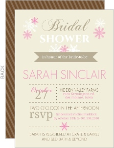 Pink Modern Bridal Shower Invitation