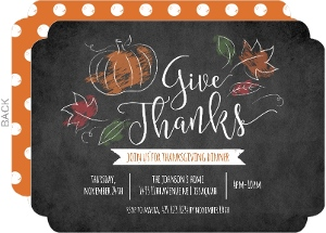 Chalk Foliage Thanksgiving Invitation