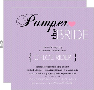 Pampered Purple Spa Party Invitation