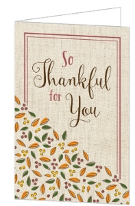 Thankful for You Thanksgiving Card