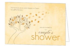 Fall Leaves Couples Shower Invitation