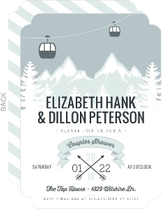 Whimsical Winter Mountains Couples Shower Invitation