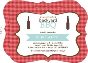 Backyard Bbq Couples Shower Invitation