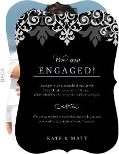 Black And Gray Flourish Engagement