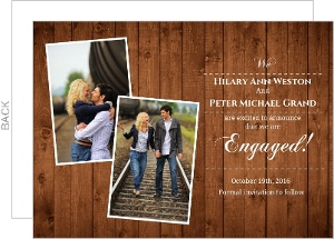 Dark Wood Texture Engagement Announcement