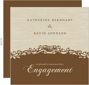 Brown And Tan Engagement Announcement