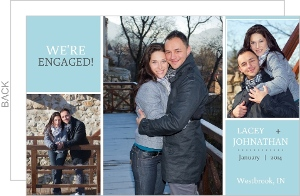 Blue Photo Engagement Announcement