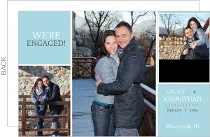Blue Photo Engagement Announcement