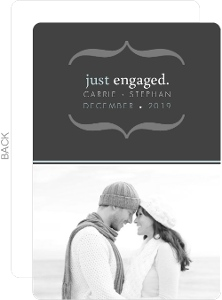 Simple Gray Engagement Annoucnement