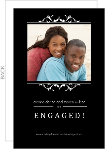 Black Formal Frame Engagement Announcement