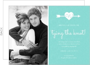 Turquoise Arrow And Heart Engagement Announcement