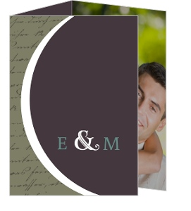 Plum and Sage Script  Save The Date Announcement