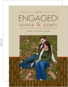 Fall Themed Engagement Announcements