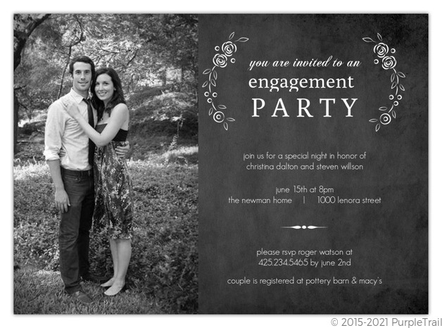 Engagement Party Invitations – Sample Engagement Party Invitations