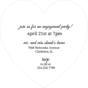 Champagne toast engagement party invitation 6767 2 big heart