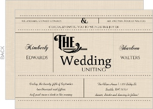 Western Love Gay Wedding Invitation