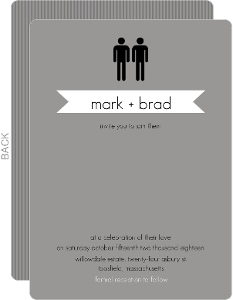 Modern Family  Wedding Invitations