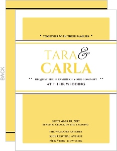 Classic Yellow Wedding Invite