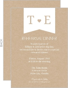 Kraft Heart Rehearsal Dinner Invitation
