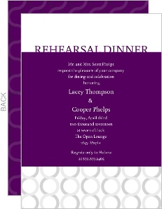 Plum and Silver  Rehearsal Dinner