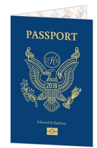 Fun Passport Save The Date Card