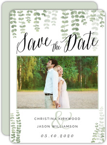 Retro Hipster Postcard Save The Date Card