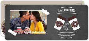 Perfect Blend Save The Date Card