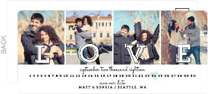 Multi Photo Love Postcard Save The Date Announcement