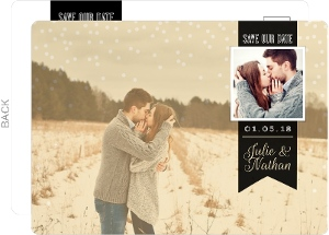 Vintage Photo and Banner Save The Date Postcard