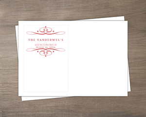 Red Elegant Swirl Invitation Envelope