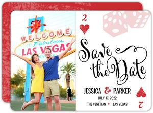 Las Vegas Poker Save The Date Card