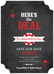 Lucky Love Chalkboard Save The Date Card