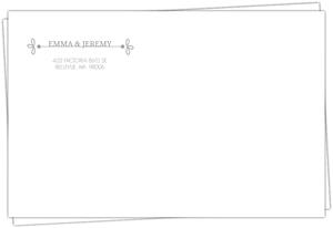 Gray Whimsical Full Envelope