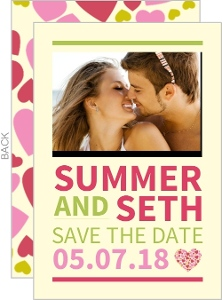 Bright and Bold Pink  Save the Date Card