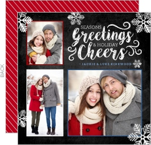 Chalk Snowflakes Holiday Photo Card