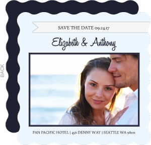 Blue Bird Wedding Save the Date