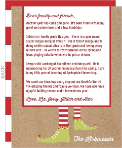 Happy Elf Holiday Letter
