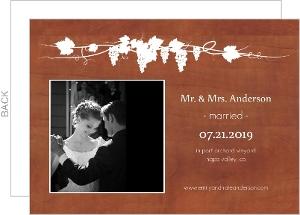Rustic Medium Wood Grain Wedding Announcement