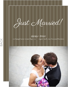 Brown white stripes wedding announcement 7060 0 big