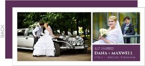 Simple Purple Bar Wedding Announcement