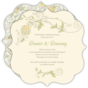 Beautiful Floral Pattern Wedding Enclosure Card