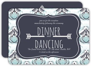 Something Blue Wedding Enclosure Card