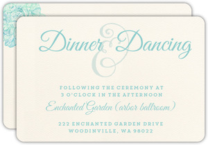 Romantic Watercolor Florals Wedding Enclosure Card