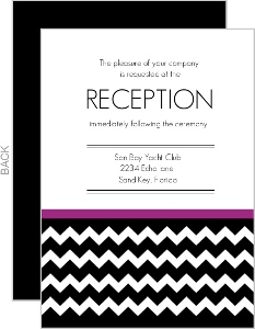 Modern Chevron Wedding Enclosure Card