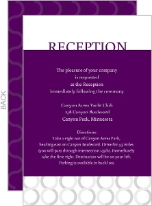 Plum And Silver Reception Card
